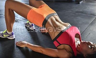 Ягодичный мостик для укрепления мышц кора