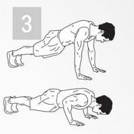 Упражнение для тренировки мышц пора: отжимания