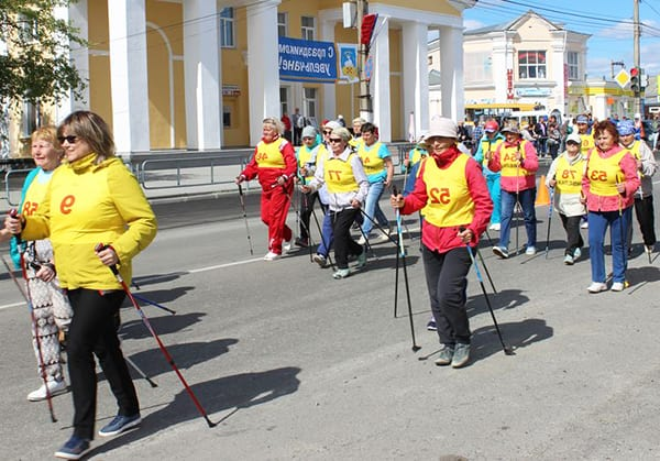 Соревнование по скандинавской ходьбе