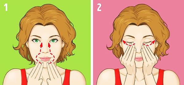 """Упражнение № 6 - """"Массаж вокруг губ и под глазами"""""""