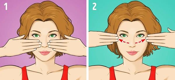 """Упражнение № 5 - """"Массаж щек двумя руками"""""""