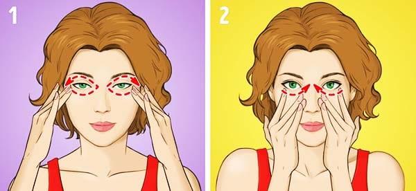 """Упражнение № 2 - """"Массаж области вокруг глаз"""""""