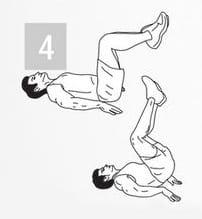 Упражнение для тренировки мышц пора: опускание ног