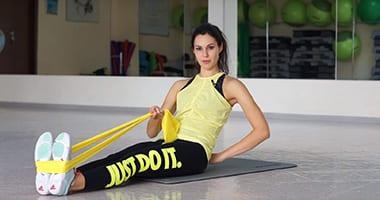 Комплекс упражнений с резиновой лентой
