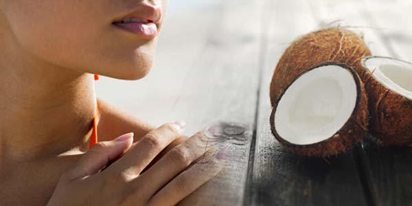 Кокосовое масло для лица во время загара