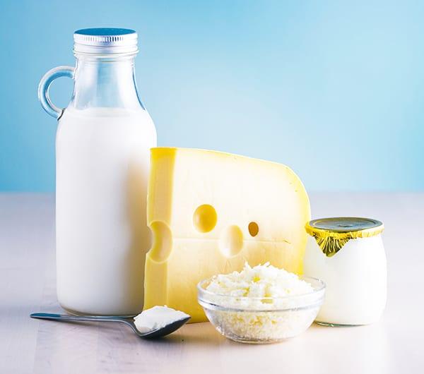 Молочные и кисломолочные продукты способствуют выработке энергии