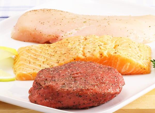 Постное мясо и рыба способствуют увеличению мышечной массы