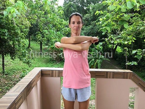 """Стрельникова дыхательная гимнастика """"Обними плечи"""" (шаг 2)"""
