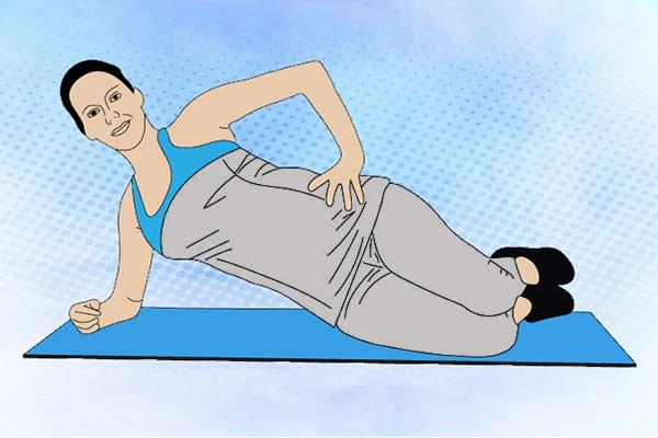"""Упражнение 10 - """"Боковая планка с упором на колени"""""""
