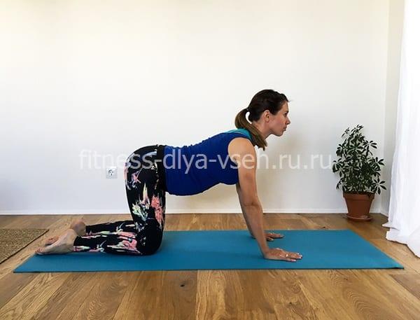№ 2 - Вытяжение ноги и руки из положения на четвереньках (шаг 1)