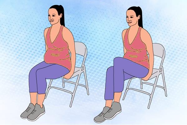 """Упражнение 4 - """"Подъем коленей на стуле"""""""