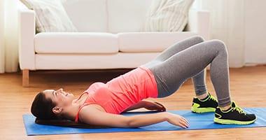 Ягодичный мостик - упражнение для попы