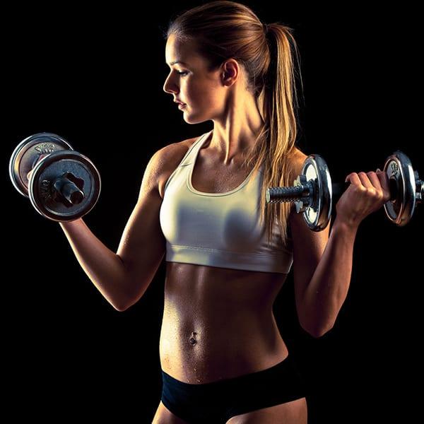 Варьируйте вес гантели, количество повторов и циклов