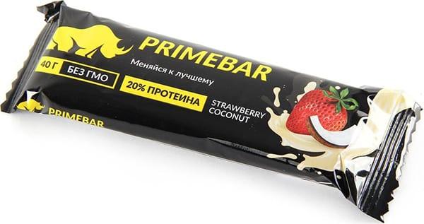 Primebar - содержит 20% протеина, не содержит сахара и красителей Наш отечественный производитель.