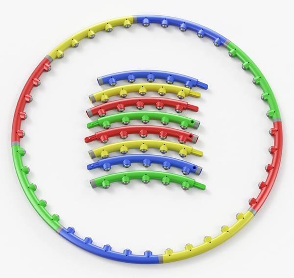 Обруч с магнитами или массажными шариками