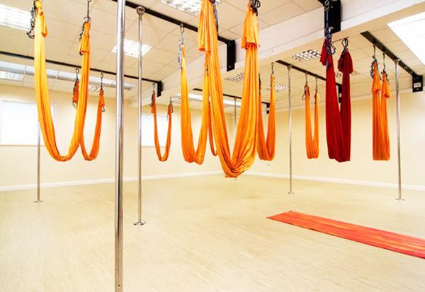 Гамаки для йоги из эластичной ткани без ручек