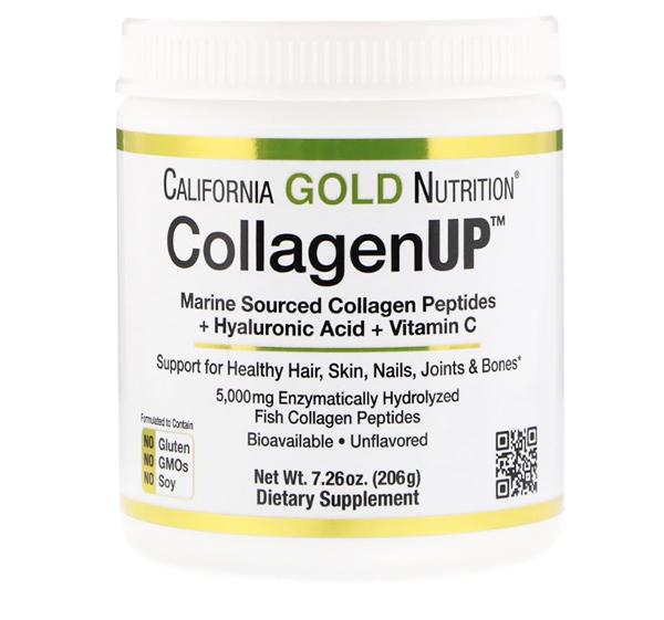 California Gold Nutrition коллаген up с витамином С и гиалуроновой кислотой