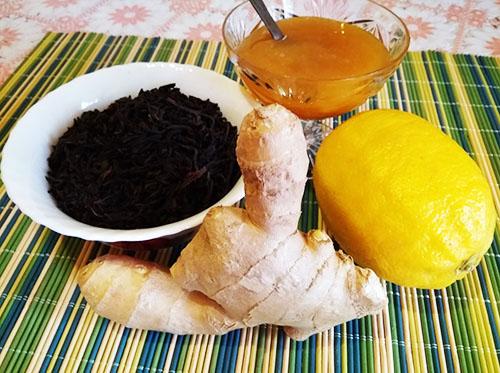 Мед, лимон, чай и мед